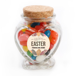 Happy Easter Eggs Glass Jar