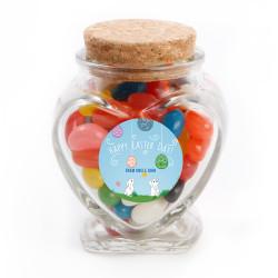 Playful Easter Bunnies Glass Jar
