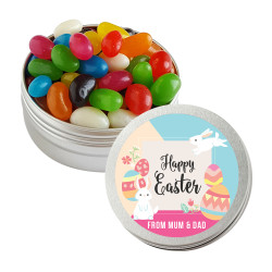 Colourful Eggs and Easter Bunnies Twist Tins