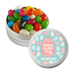 Blue and Pink Easter Eggs Twist Tins
