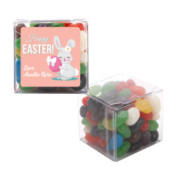 Pink Easter Bunny with Egg Sweet Cubes