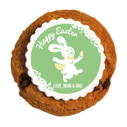 Green Happy Easter Printed Cookies