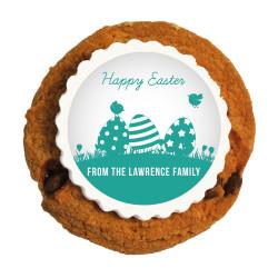 Green Easter Eggs Printed Cookies