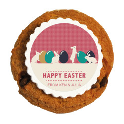 Easter Eggs and Bunnies Printed Cookies