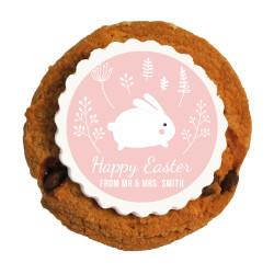 Pink Baby Easter Bunny Printed Cookies