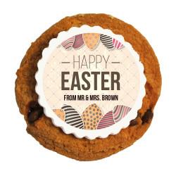 Happy Easter Eggs Printed Cookies