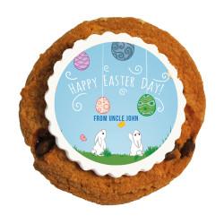 Playful Easter Bunnies Printed Cookies