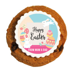 Colourful Eggs and Easter Bunnies Printed Cookies