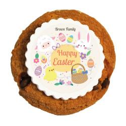 Happy Easter Printed Cookies