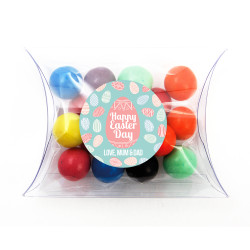 Blue and Pink Easter Eggs Pillow Box