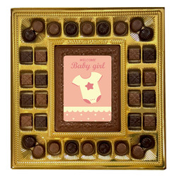 Pink Welcome Baby Girl Deluxe Chocolate Box
