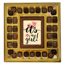 Foot Print It's a Girl Deluxe Chocolate Box