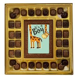 Giraffe It's a Boy Deluxe Chocolate Box