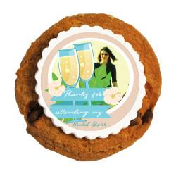 7_ Custom Photo Bridal Shower Printed Cookies