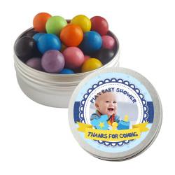 Blue Custom Photo Baby Shower Twist Tins