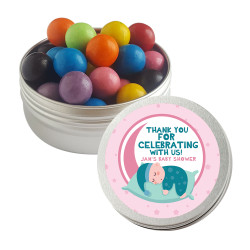Pink Sleeping Baby Shower Twist Tins