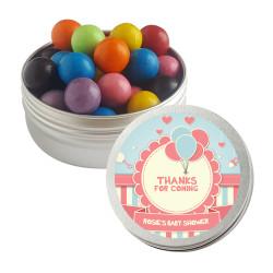Blue Pink Balloon Baby Shower Twist Tins