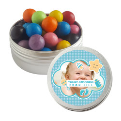 Blue Star Custom Photo Baby Shower Twist Tins