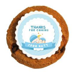 Blue Baby Shower Printed Cookies