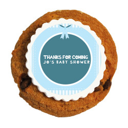 Light Blue Baby Shower Printed Cookies