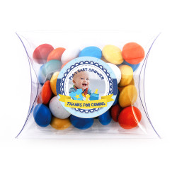 Blue Custom Photo Baby Shower Pillow Box