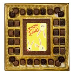Yellow Bunnies Happy Easter Deluxe  Chocolate Box