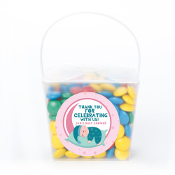 Pink Sleeping Baby Shower Noodle Box