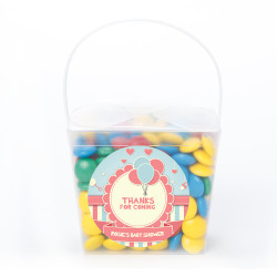 Blue Pink Balloon Baby Shower Noodle Box