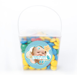 Blue Star Custom Photo Baby Shower Noodle Box