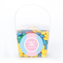 Blue and Pink Stripes Baby Shower Noodle Box