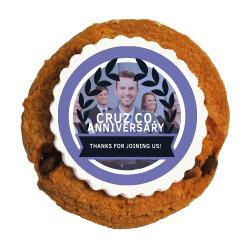 Purple Custom Photo Anniversary Printed Cookies