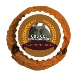 Light Brown Custom Photo Anniversary Printed Cookies