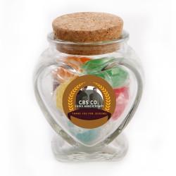 Light Brown Custom Photo  Anniversary Glass Jar