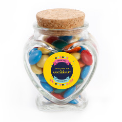 Yellow Party Text  Anniversary Glass Jar