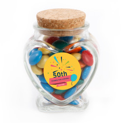 Yellow Colorful Fireworks  Text Anniversary Glass Jar