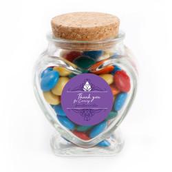 Purple Text Anniversary Glass Jar