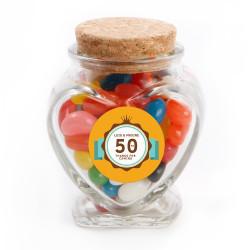 Orange Anniversary Glass Jar