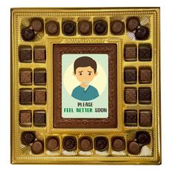 Please Feel Better Soon Deluxe  Chocolate Box