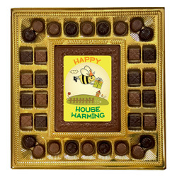 Happy House Warming Bee Deluxe  Chocolate Box