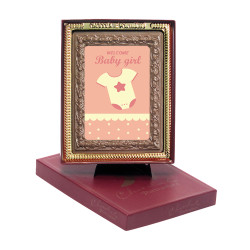 Pink Welcome Baby Girl Chocolate Portrait