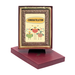 Congratulation Chocolate Portrait