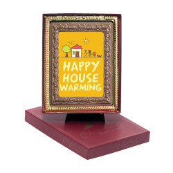 Orange Happy House Chocolate Portrait
