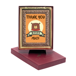 Thank You Beary Much Chocolate Portrait