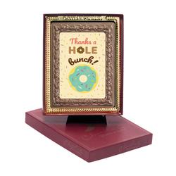 Thanks a Hole Bunch Chocolate Portrait