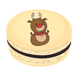 Baby Reindeer Christmas Printed Macarons