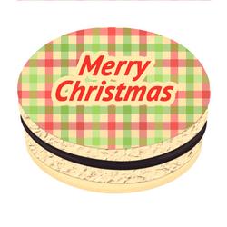 Checkered Greetings Christmas Printed Macarons