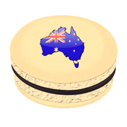 Australia Map Printed Macarons