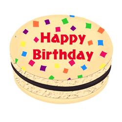 Happy Birthday Confetti Printed Macarons