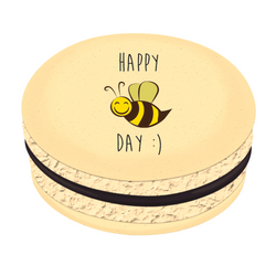 Happy Bee Day Confetti Printed Macarons