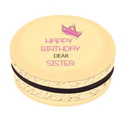 Happy Birthday Dear Sister Printed Macarons